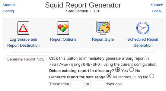 Squid Report Generator